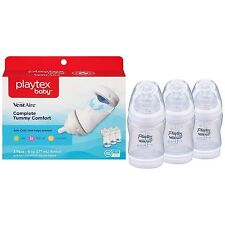 Set of 3 Playtex VentAire Advanced 6 Ounce Wide Baby Bottles