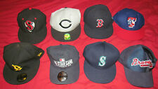 LOT Of 8 MLB + MiLB BASEBALL Team Sport Cap Hats 59FIFTY + OTHER, BALLCAP TEAMS!