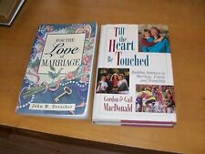 2 Christian Marriage Books-For The Love of Marriage+Till The Heart Be Touched