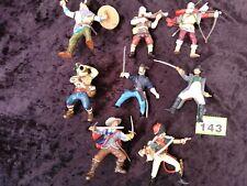 Papo mixed bundle swordsman, viking, archer, crossbow, pirate, figures horseride