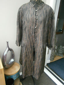 WINDSMOOR LADIES BROWN BLACK LONG OCCAISION JACKET COAT-SIZE 24