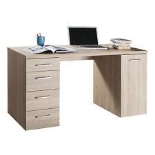 Scrivania per ufficio con 4 cassetti e 1 anta 140x60 cm rovere arredo moderno