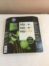(New) HP Officejet 940Xl Ink Cartridges Combo (Cyan Magenta Yellow) Exp 2018