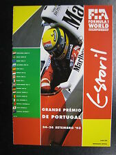 Program Grande Prémio de Portugal 1993 24-26 setembro Estoril (PBE)