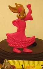 BOOK OF DEUTERONOMY 6:5 pink Christian Bunny figure flamenco dancer toy mini