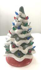 Ceramic Flocked Lighted Christmas Tree 3Aa Batteries Merchsource 2015