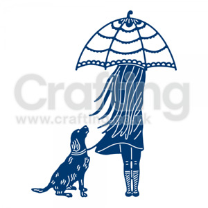 Girl / Dog / Umbrella  Tattered Lace Always By Your Side Die  + 5 FREE Die Cuts