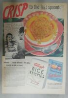 Kellogg's Cereal Ad: Crisp To The Last Spoonful ! 1939 Size: 11 x 15 inches