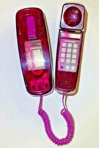 Vintage Conair Purple Transparent Telephone Retro 90's push button light up