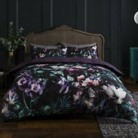 Duvet Cover Set Single Double SuperKing Size Reversible Floral Bedding Set