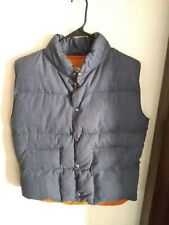 PACIFIC TRAIL Down Puffer Vest - Mens Medium - Button Snap Vintage made USA