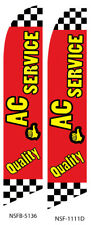 New listing Ac Service Flutter Feather Flag Swooper Advertising Sign Ba