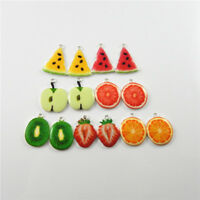Enamel Alloy Jewelry Crafts Colorful Fruit Shaped Charms Pendants Findings 10pcs