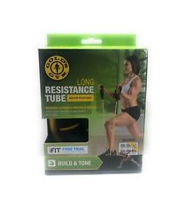 "Golds Gym Long Resistance Tube  50"" Medium Resistance Build Strength & Tone New"