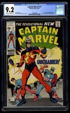 Captain Marvel #17 CGC 9.2 KEY 1st Rick Jones Negabands New Costume 1969 America