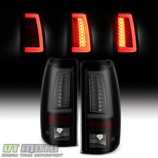 2003-2006 Chevy Silverado 1500-2500HD-3500 LED Pyro Tube Tail Lights Black Smoke