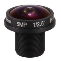 fisheye cctv lens 5MP 1.8mm M12*0.5 mount 1/2.5 F2.0 180 degree for video s O6D5