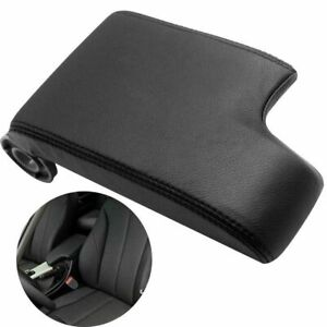Leather Center Console Armrest Cover Lid for BMW E46 1999-2004 Black