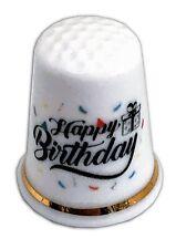 BN Personalised Happy Birthday Thimble, Fine Bone China Thimble, Birthday Gift