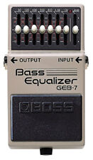 Boss Geb-7 Bass Equalizer Pedal GEB7 2 Patch Cables