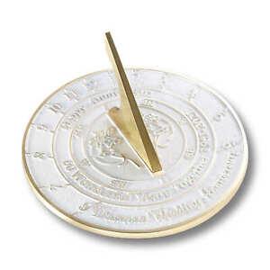 60th Diamond 2021 Wedding Anniversary Sundial Gift By The Metal Foundry