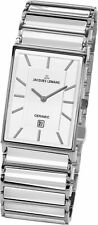 Jacques Lemans Men's 1-1593-1E Classic White Dial Steel and Ceramic Watch