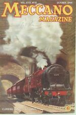 1944 OCTOBER 33563 Meccano Magazine Cover Picture  CLIMBING OUT OF THE TUNNEL
