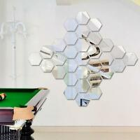 50pcs Bricolaje 3d Espejo Acrílico Adhesivo de Pared Arte Mural