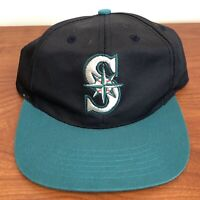 Seattle Mariners Hat Snapback Cap Youth BOYS MLB Baseball Plain Logo Vintage 90s