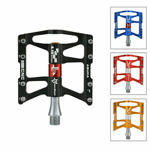 "ROCKBROS Bike Pedals 9/16 ""MTB BMX Road Bike CNC Bearings Anodized 4 Sealed Alu"