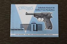 Walther P38 Pistole Bedienungsanleitung Manual Gebrauchsanweisung