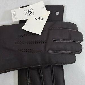 UGG Wrangell Smart Leather Gloves #11991Brown Men's Size XL