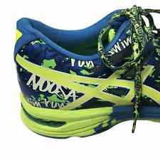 Asics Tennis Shoes Blue Lime Green Reflective Silver Gel Noosa 10 Women's US 8.5