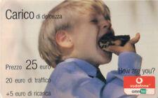 3888 SCHEDA TELEFONICA USATA RICARICA VODAFONE CARICA DI DOLCEZZA 31/12/2006