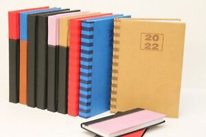 2022 LUXURY PADDED 'SLIMLINE, A5, A4 OR QUARTO' WEEK TO VIEW OR DAY A PAGE DIARY