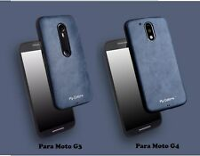 Elegante funda flexible simil piel para Motorola Moto G3, G4 - G4 Plus, G4 Play