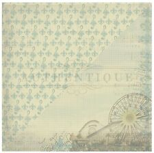"Authentique Pastime #5 FERRIS WHEEL / FLEUR DE LIS -  12x12"" D/sided Paper"