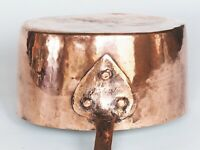 Antique Copper Saucepan - Hammered Finish - Professionally Retinned