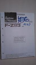 Pioneer f-z93 service manual original repair book stereo tuner digital radio