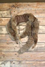 Vintage 40s Taxidermy Brown Fox? Fur Stole Scarf Mouth Clip 98cm Long