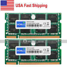 New 8GB Kit 2x4GB 2Rx8 PC2-6400 DDR2 800Mhz 200Pin SODIMM Laptop Memory From USA