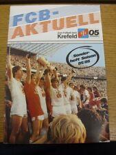 1985/1986 Bayer Uerdingen: guía oficial Manual/Temporada. fallas con este artículo