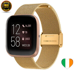 Gold Strap For Fitbit Versa / Versa 2 Lite Milanese Watch Band Loop Replacement