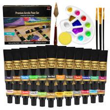 Acrylic Paint Set Art Supplies for Artist – 30pc Craft Acrylic Premium Paint Set