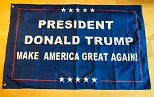 Double Sided Blue President Donald Trump 3x5 Foot Flag Make America Great Again!