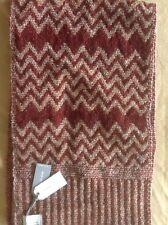 TOPMAN Premium Italian Men's Scarf Wool Blend Zigzag Pattern NWT RRP £18.00