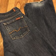 Seven 7 For All Mankind Bootcut Jeans Dark Blue Size 28 x 33