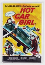Hot Rod Girl Movie Poster FRIDGE MAGNET 1950's Bel Air Drag Racing Race Car Chev