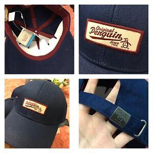 Penguin Hat Patch Adjustable Cap Navy Men's $35