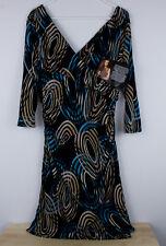 NWT IMAN GLOBAL CHIC DRESS 3/4 SLEEVE WOMEN'S SIZE L